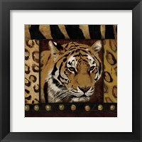 Tiger Bordered Framed Print