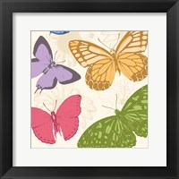 Colorful Butterflies 2 Framed Print