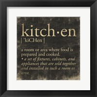 Framed Kitchen Definition