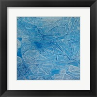 Framed Blue Abstract A
