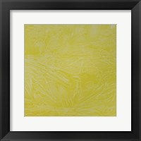 Framed Yellow Abstract C