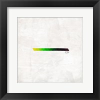 Triangle Strip Framed Print