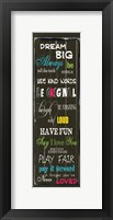 Dream Big 1 Framed Print