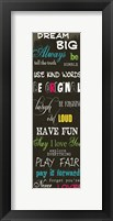 Dream Big 3 Framed Print