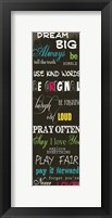 Dream Big 2 Framed Print