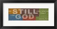 Be Still 3 Framed Print