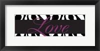 Love Glitter Framed Print