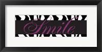 Smile Glitter Framed Print