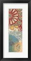 Flora Trance VI Panel Framed Print