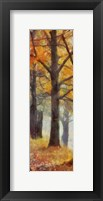 Amber Trail Panel II Framed Print