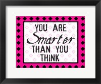 Much Smarter Framed Print
