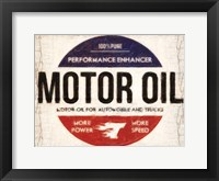 Motor Oil Framed Print
