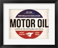 Motor Oil Framed Print