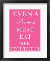 Princess Must Eat Framed Print