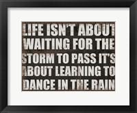 Dance In The Rain Framed Print