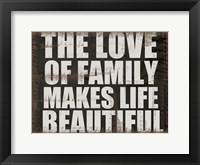 Love of Family Framed Print