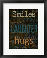 Smiles Laughter Hugs Framed Print