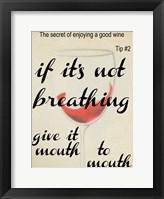 Wine Secret 2 Framed Print