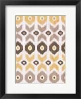 IKAT Earth II Framed Print