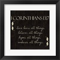Framed 1 Corinthians 13-7-NKV