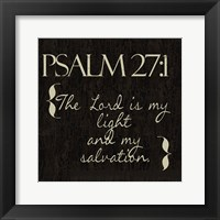 Framed Psalm 27-1