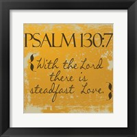 Psalms 130-7 Orange Framed Print