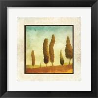 Damask Landscape I Framed Print