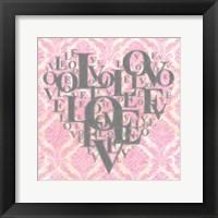 Heart Love I Framed Print