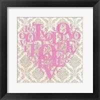 Heart Love II Framed Print