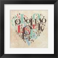 Heart Love III Framed Print