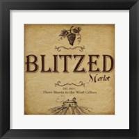 Blitzed Framed Print