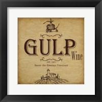 Gulp Framed Print