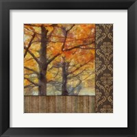Amber Damask Tree II Framed Print