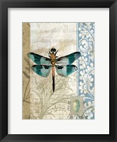 Framed Dragonfly Blue