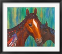 Framed Horse Feathers