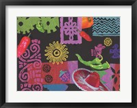 Fiesta (black) Framed Print