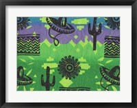 Fiesta (green) Framed Print