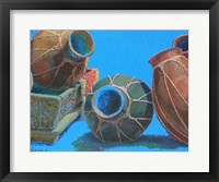 Framed Blue Pots 1