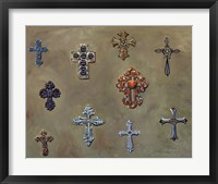 Framed Wall of Crosses