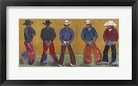 Framed Western Cowboys