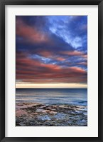 Framed Wisconsin Sunrise on shore of Lake Michigan