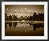 Framed Teton Range and Snake River, Grand Teton National Park, Wyoming (sepia)