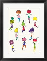 Framed Fruit Heads