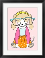 Framed Geek Dog Girl