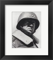 Framed General George Patton in command of the US 7th Army in World War Two