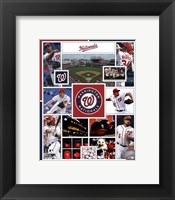 Framed Washington Nationals 2015 Team Composite