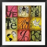 Framed Love Makes the World Go Round