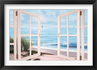 Framed Sandpiper Beach Door