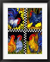 Framed Chicken Quartet