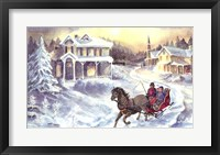 Framed Horse and Sleigh